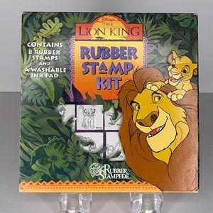 Lion king rubberstamp kit